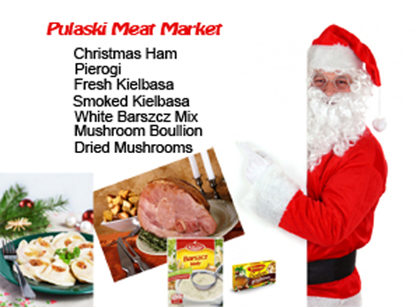 Santa get's his Polish Christmas Ham at Pulaski Meat Market Utica