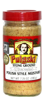 Bottle of Pulaski Stone Ground Mustard