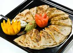 Sauerkraut Quesadillas on plate