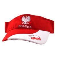 Polska Red and White Sun Visor