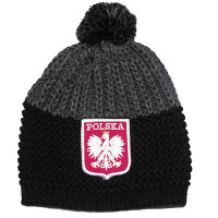 Black and Gray Polska Knit Hat